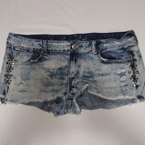 American Eagle ultra short acid wash shorts